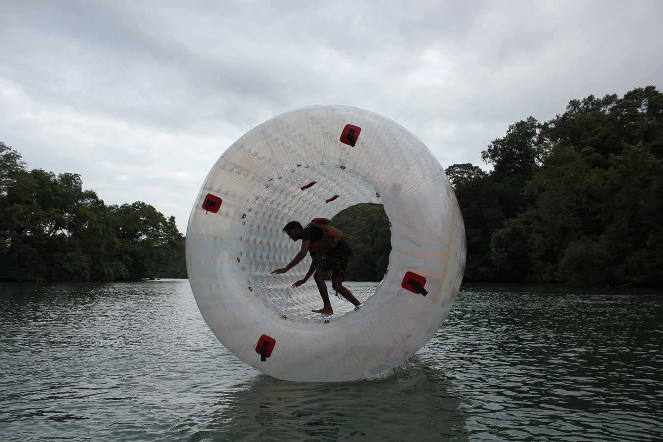 Water zorbing in Dandeli